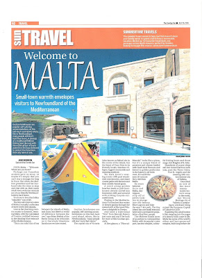 Welcome to Malta. Photograph by Janie Robinson, Travel Writer
