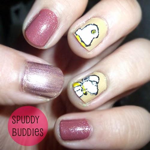 Peanuts Kiss And Makeup: Spud Nails: Halloween Snoopy And Woodstock Nail Art