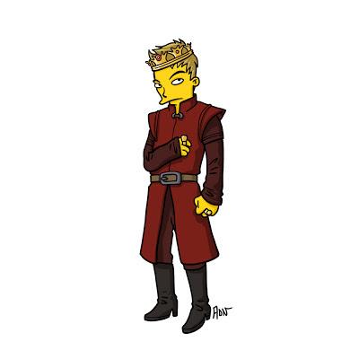Joffrey los simpsons - Juego de tronos en los siete reinos