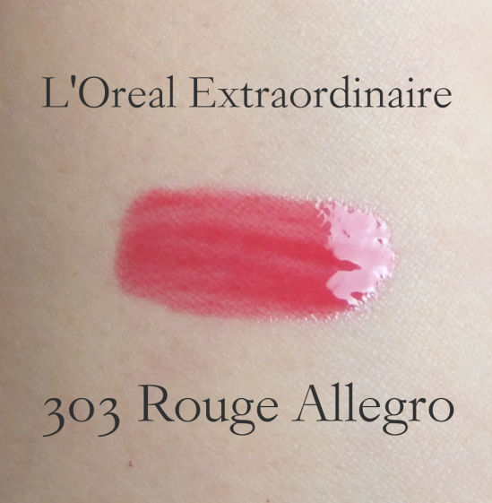 L'Oreal Extraordinaire Rouge Allegro swatch