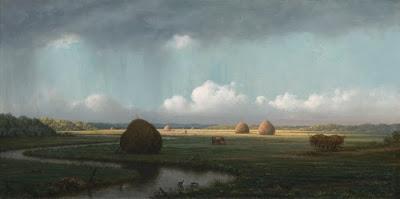 Martin Johnson Heade: Sudden Shower - Newbury Marshes (1865-1875)