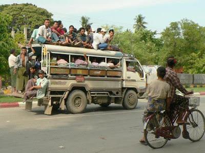 Myanmar turismo, transporte Myanmar