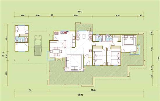 Casas prefabricadas chile planos planta baja imagui for Planos de casas medianas