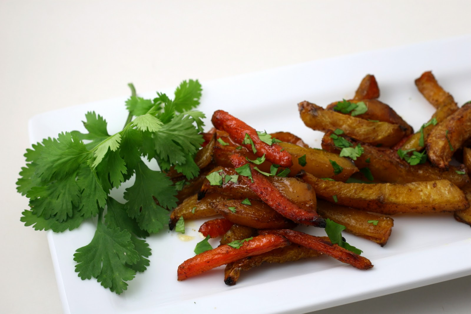 "Indian Spiced Beet and Carrot ""Fries"" - Coastal Cooking"
