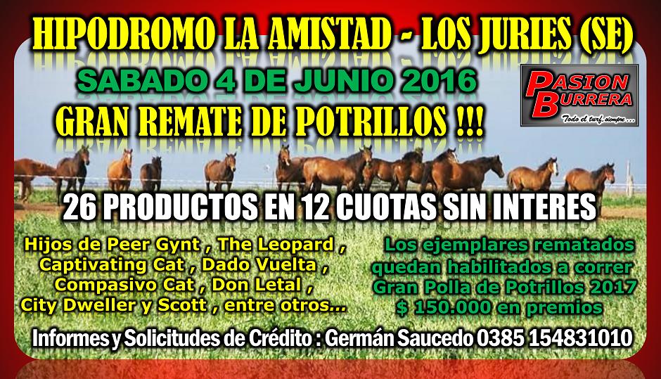 LOS JURIES . SABADO 4 - REMATE