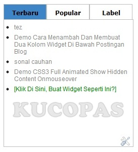 Cara Membuat Menu Tab View Tanpa Edit HTML Template Blog