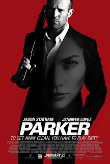 Jason Statham and Jennifer Lopez in Parker