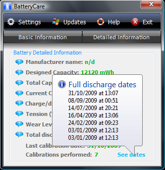 battery care 9.8 screenshot