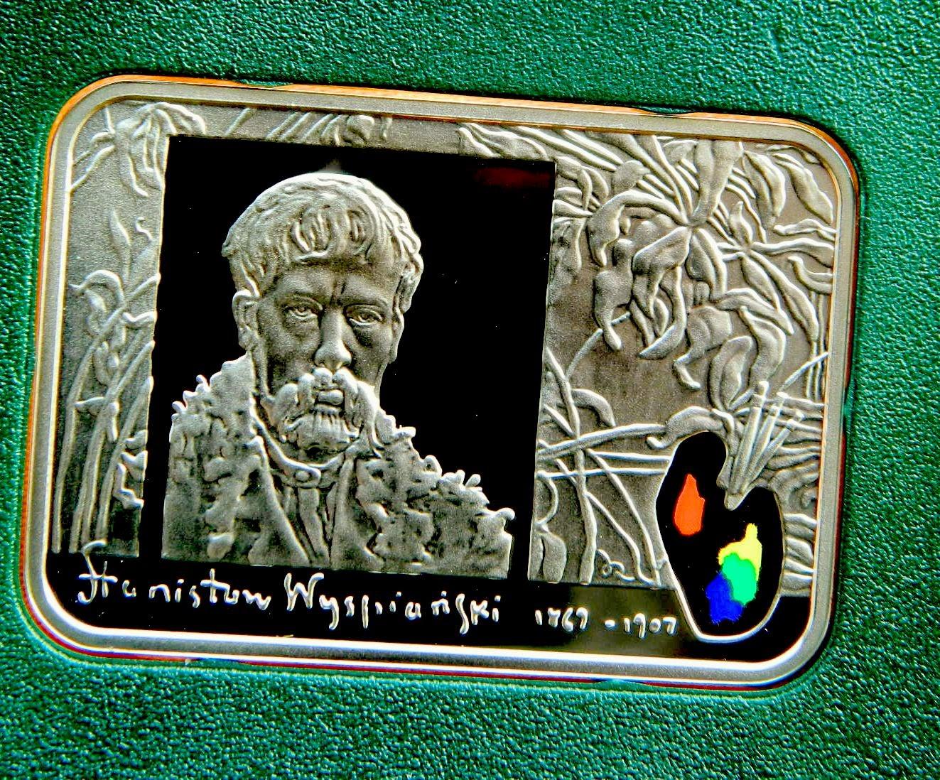 20 злотых серебро ПРУФ серия Художники