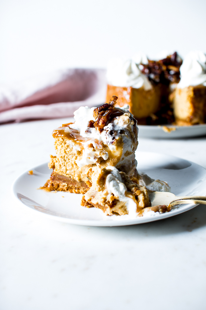 Flourishing Foodie: Pumpkin Spice Cheesecake with Salted ...