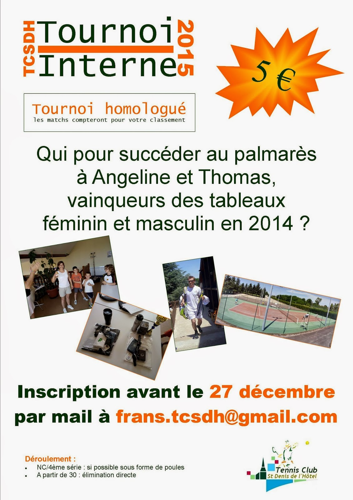 Tournoi interne 2015 du TCSDH