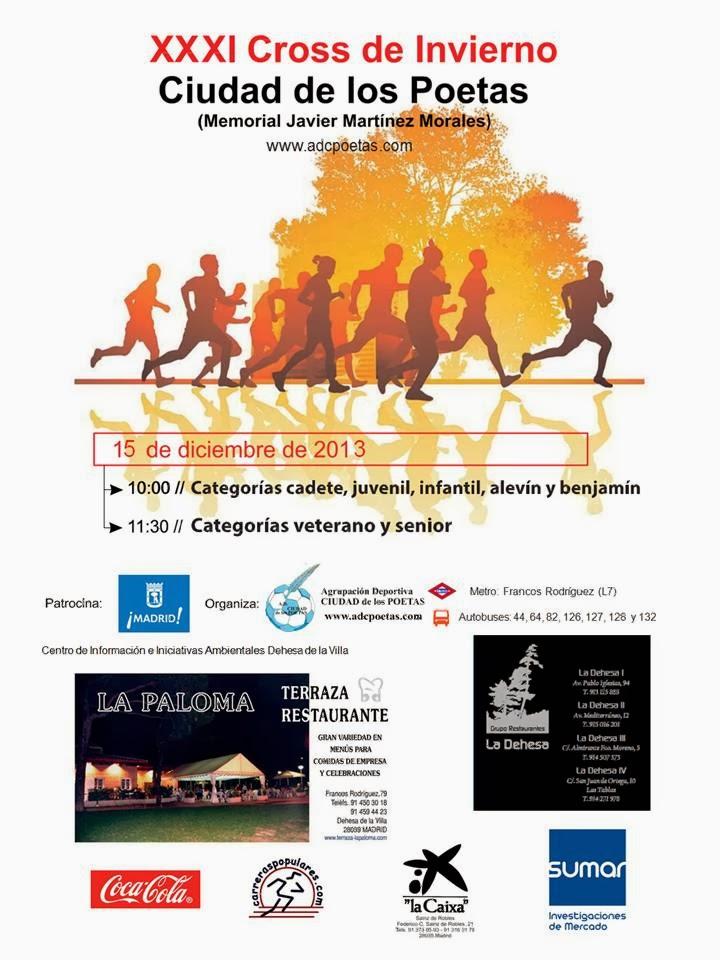 XXXI CROSS DE INVIERNO (2013)  CLASIFICACIONES, FOTOGRAFÍAS, ENCUESTA, OPERACIÓN KILO