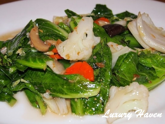 orchid live seafood restaurant stir-fried vegetables