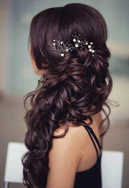 Bridal hairstyle inspirations for dark hair share junglespirit Gallery