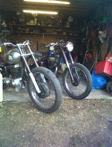 Harley's BSA bobber & chop project