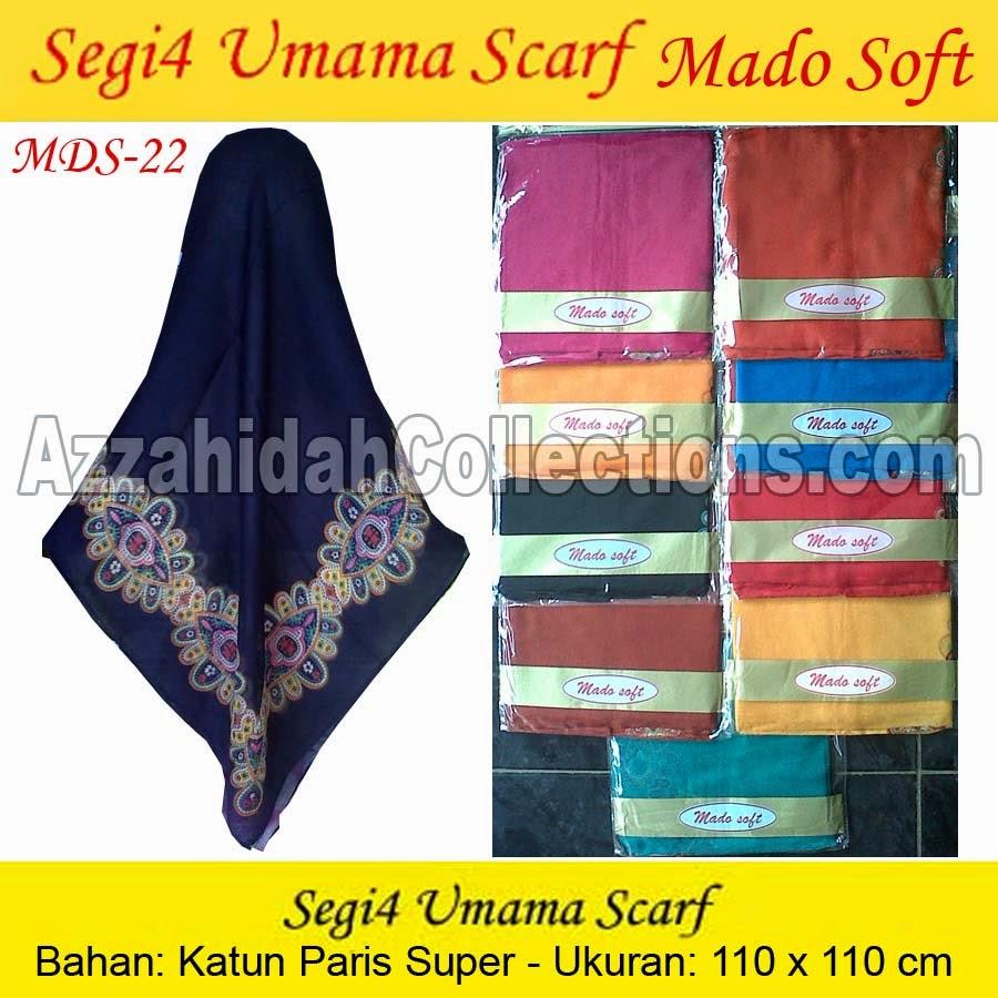 Jilbab Segi Empat Umama Scarf Mado Soft - www.azzahidahcollections.com