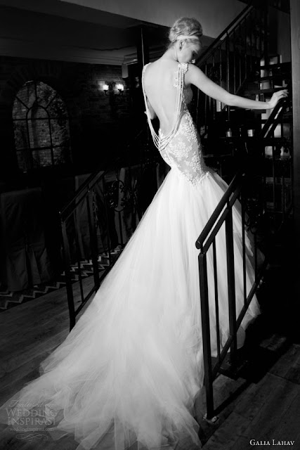 Galia Lahav mermaid lace backless wedding  dress 2013 2014