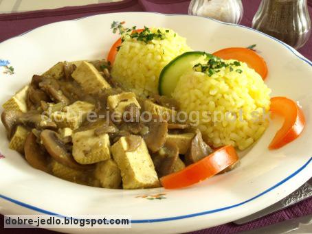 Tofu na šampiňónoch - recepty