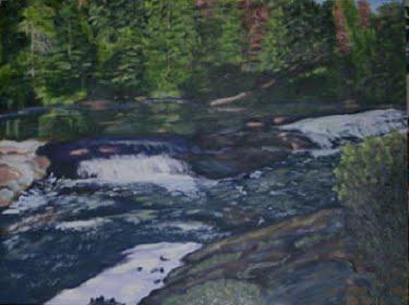 Mew Lake Falls - Algonquin Park (2008)  SOLD