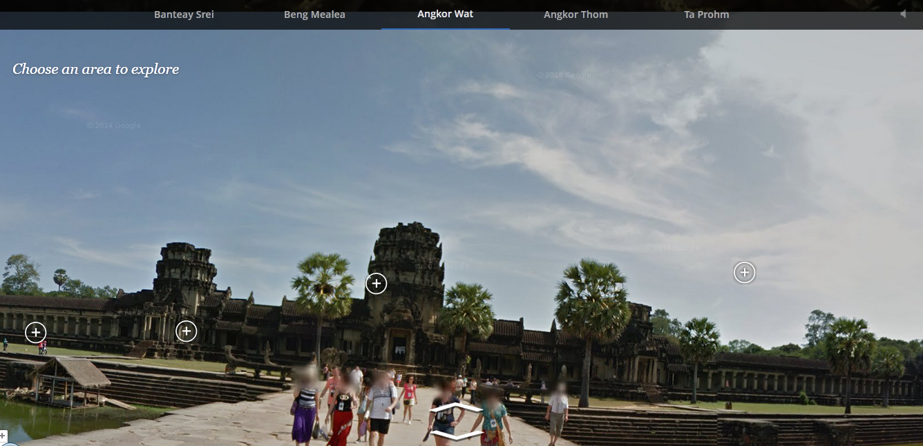 Google Street View in Angkor Wat