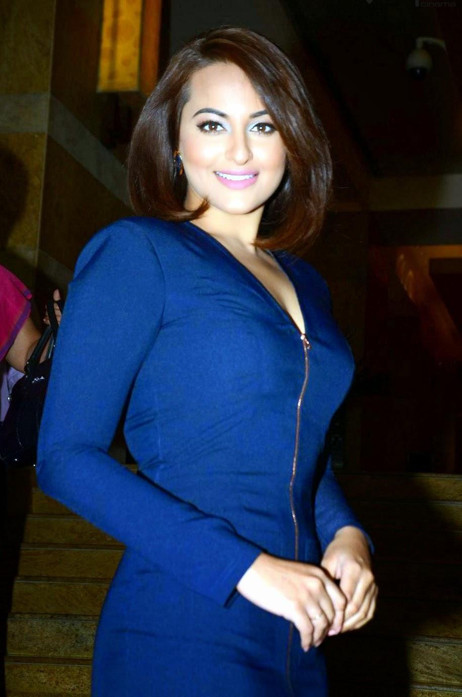 Sonakshi Sinha Latest Thick blue dress Hot Photos ~ Latest Telugu ...