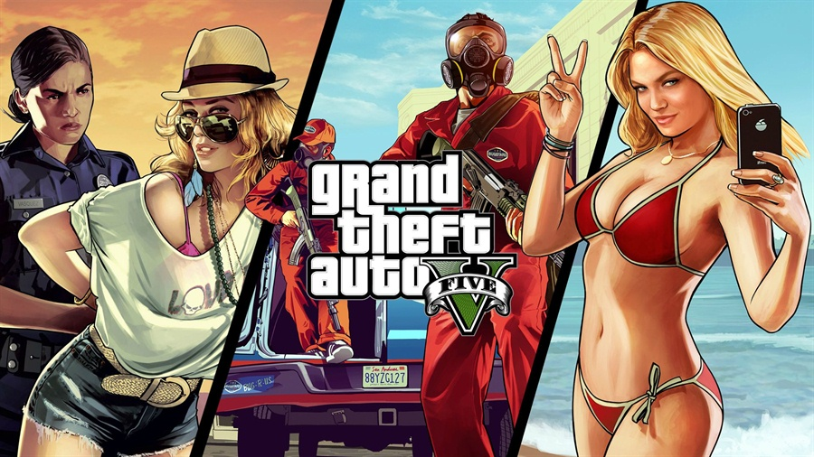 Grand Theft Auto 5 PC Download Free Full Version Poster