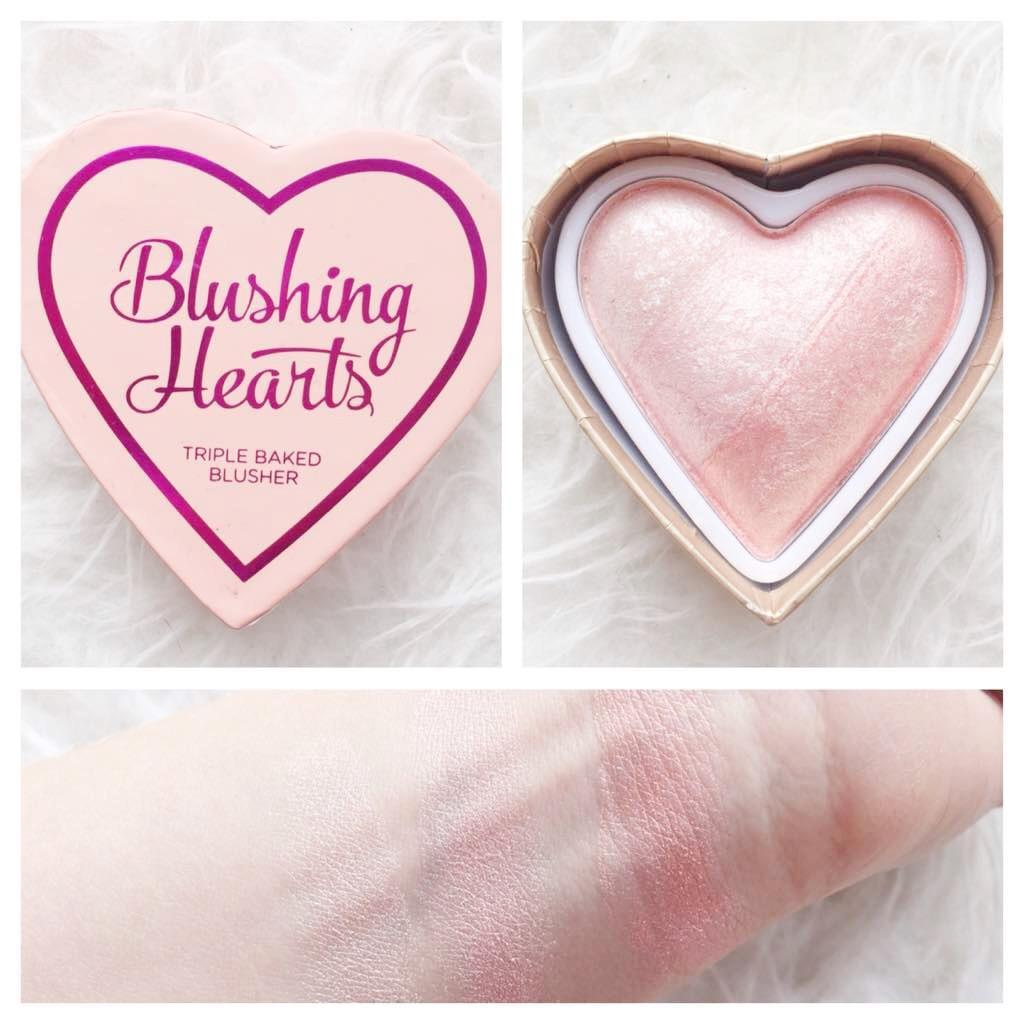 Black And Pink Kiss Makeup: Xolucy: Makeup Revolution NEW Blushing Hearts