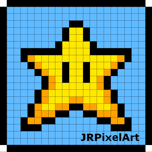 Star Pixel Art