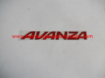 Emblem Alumunium Red Avanza