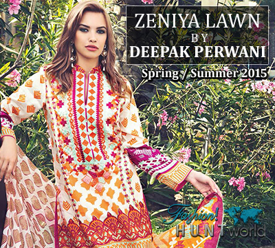 Zeniya Lawn By Deepak Perwani Spring/Summer 2015 Collection