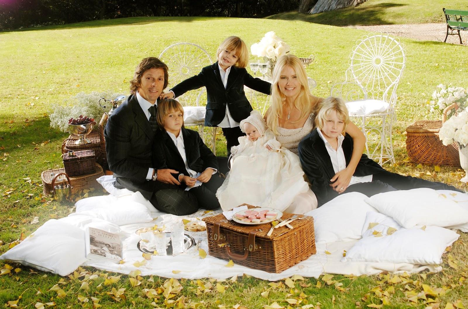 Valeria Mazza & her family,