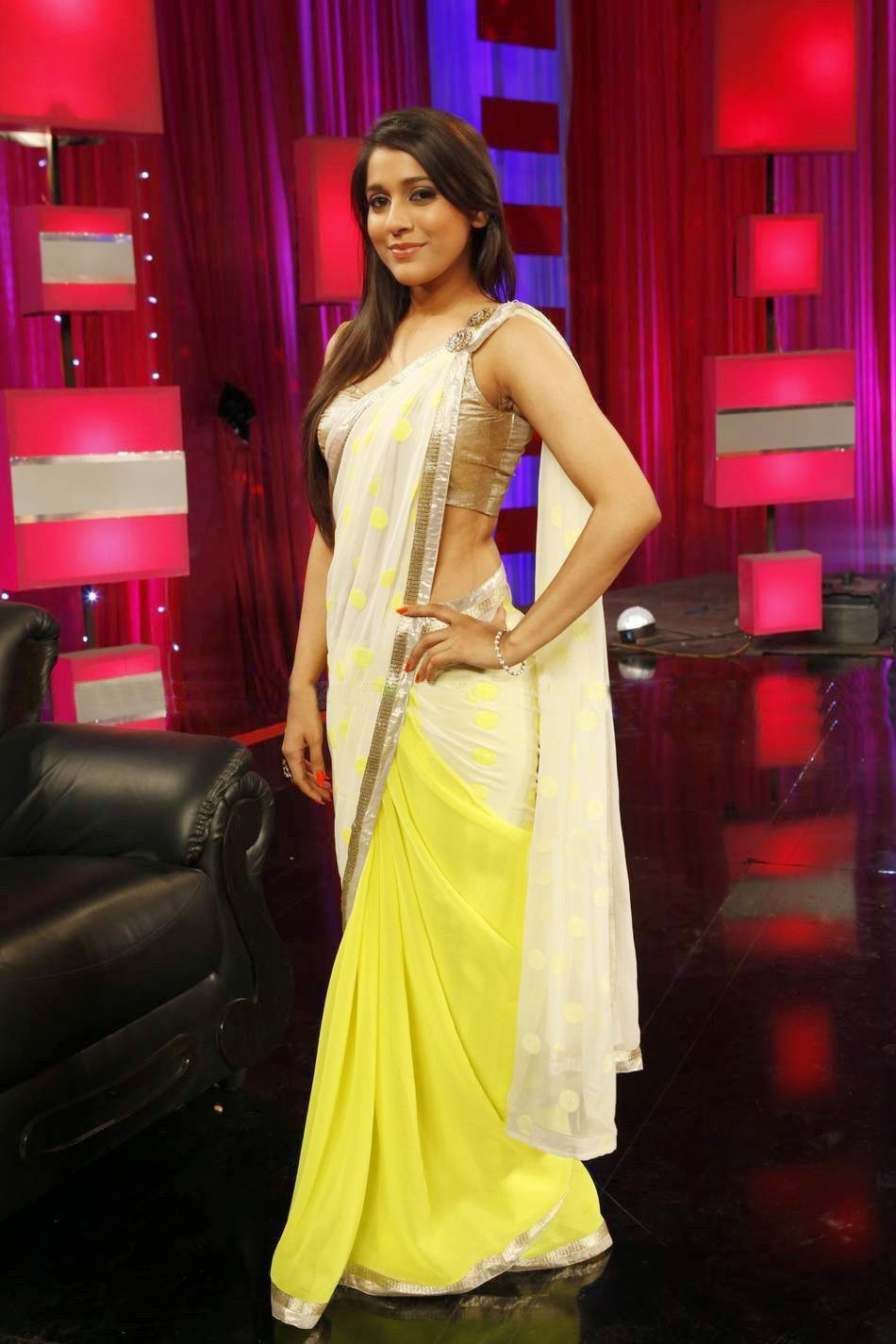 Anchor Reshmi Latest Stills in Yellow Saree