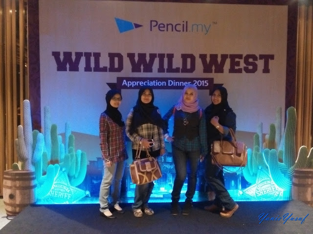 Pencil.my: Wild West Appreciation Night 2015,  Pencil.my,  Wild West Appreciation Night 2015 , Majlis Makan Malam, Pencil.my dinner, cowboy, cowboy muslimah