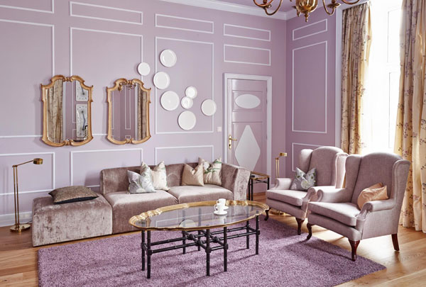 Decorando en morado lila y berenjena decorating in for Lila home designs