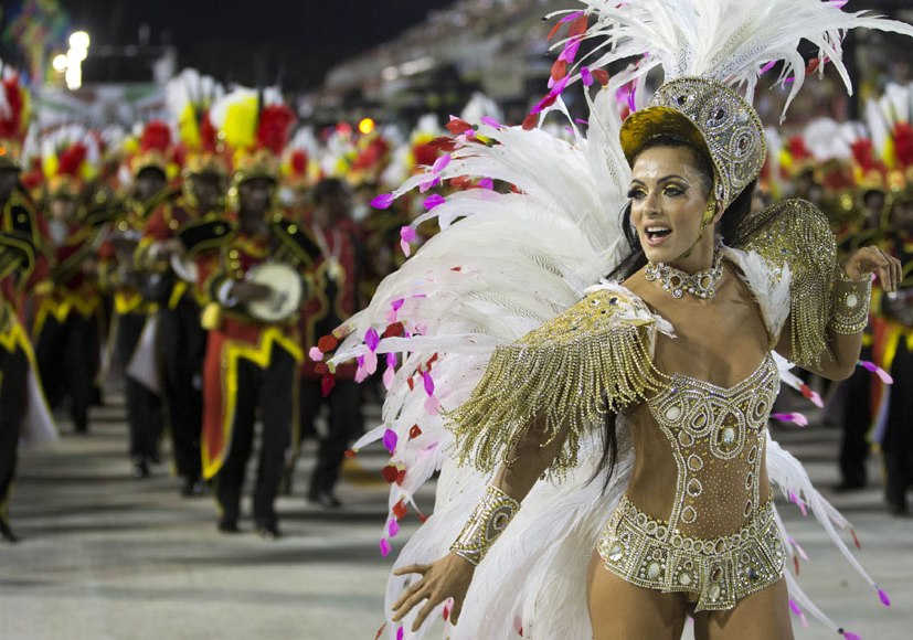 Thousands party on the streets at Brazil's Rio carnival.