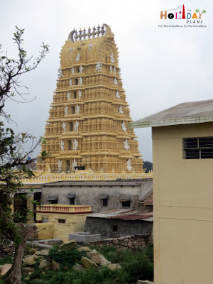 Chamundeshwari Temple as seen from backyard