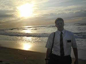 mac at beach
