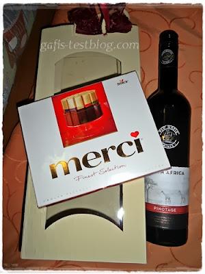 Schokolade und Rotwein - Weihnachtsgeschenke