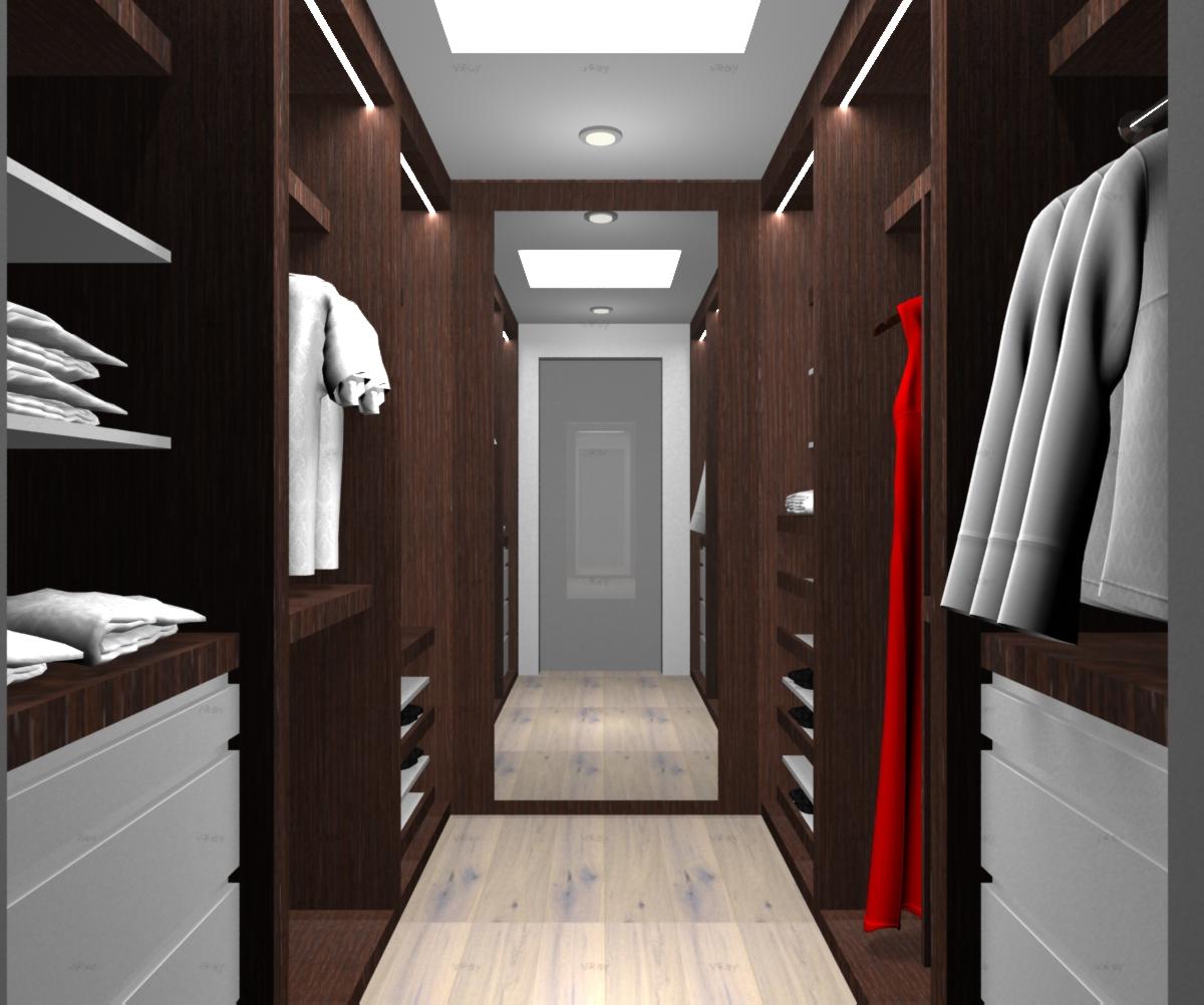 Diseno de ba os con walking closet for Banos interiores para casa