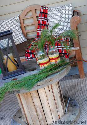 Cozy Adirondack Christmas Porch