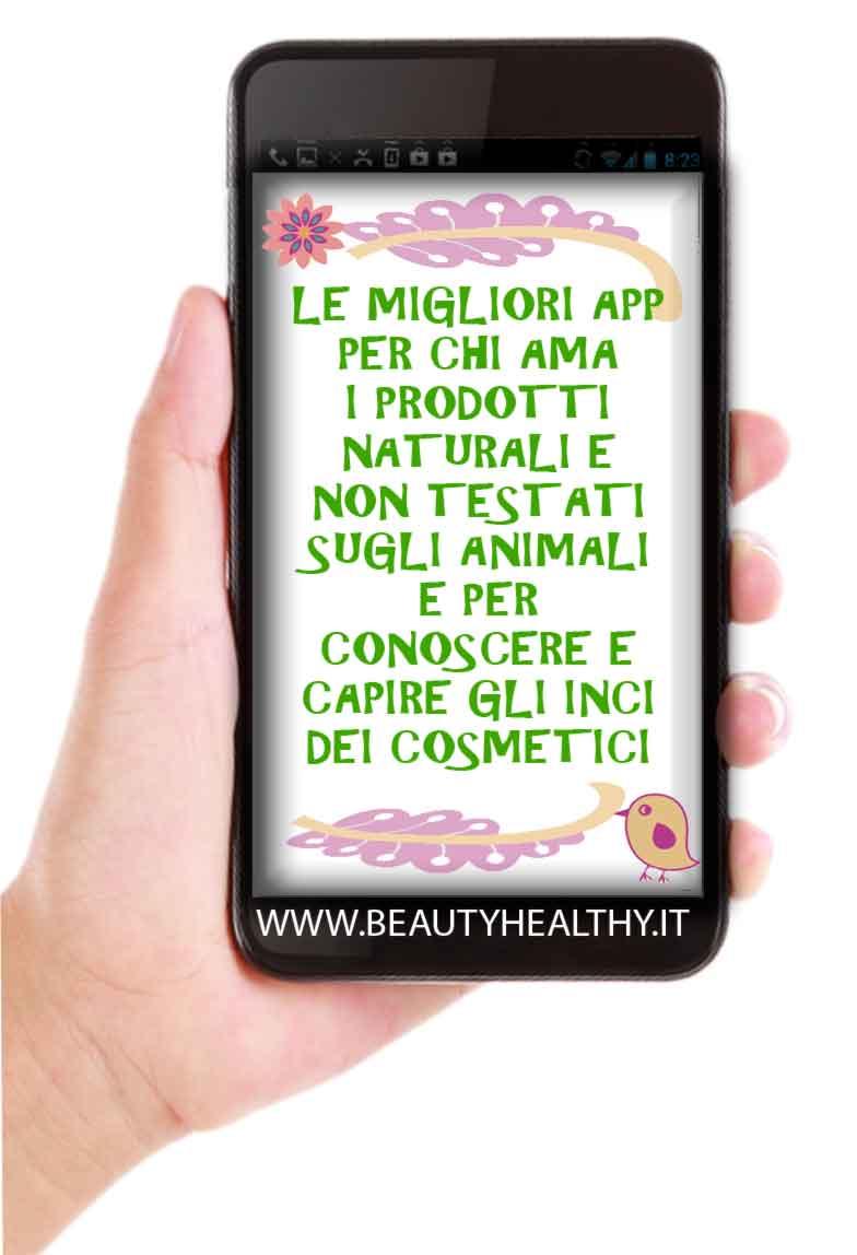 applicazioni smartphone cosmetici naturali inci