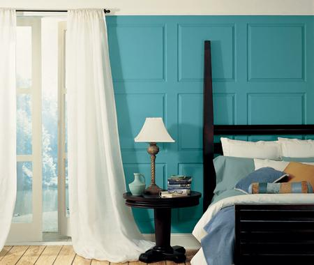 Laura ashley feature wallpaper laura ashley bedroom for Turquoise wallpaper for bedroom
