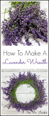 DIY Lavender Wreath, shared by The Pin Junkie