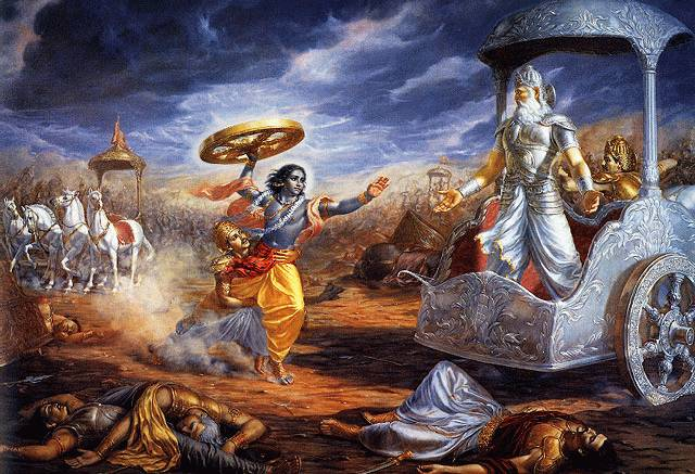 Lord Krishna in Gurushethra