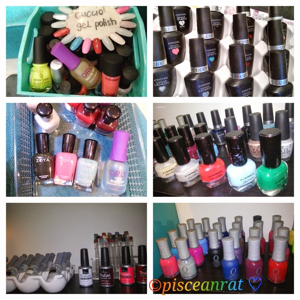 L.A. Colors, China Glaze, Cuccio, Zoya, MAC, OPI, EzFlow, Orly. nail polish