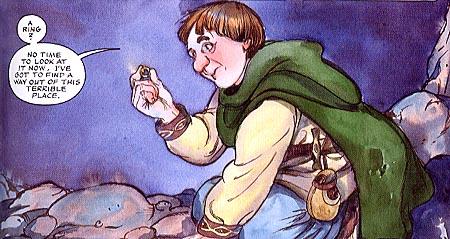 """Bilbo encuentra el anillo en """"El Hobbit"""""""
