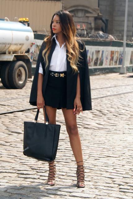 h&m cape coat, h&m paris collection cape coat, h&m paris collection, zara skirt,