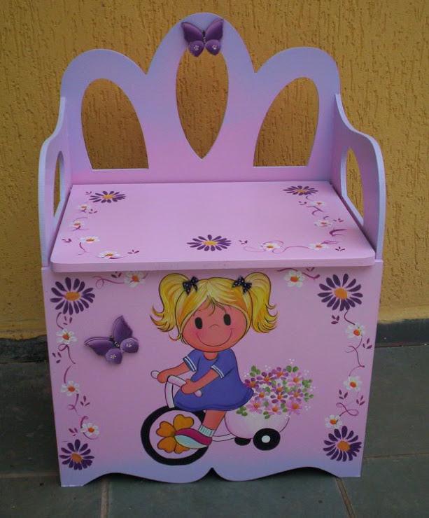 Bau banco menina na Bike R$ 220,00