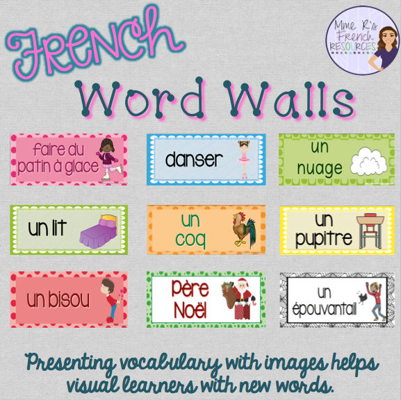 Games and activities for teaching french vocabulary teach french vocabulary with word walls fandeluxe Choice Image