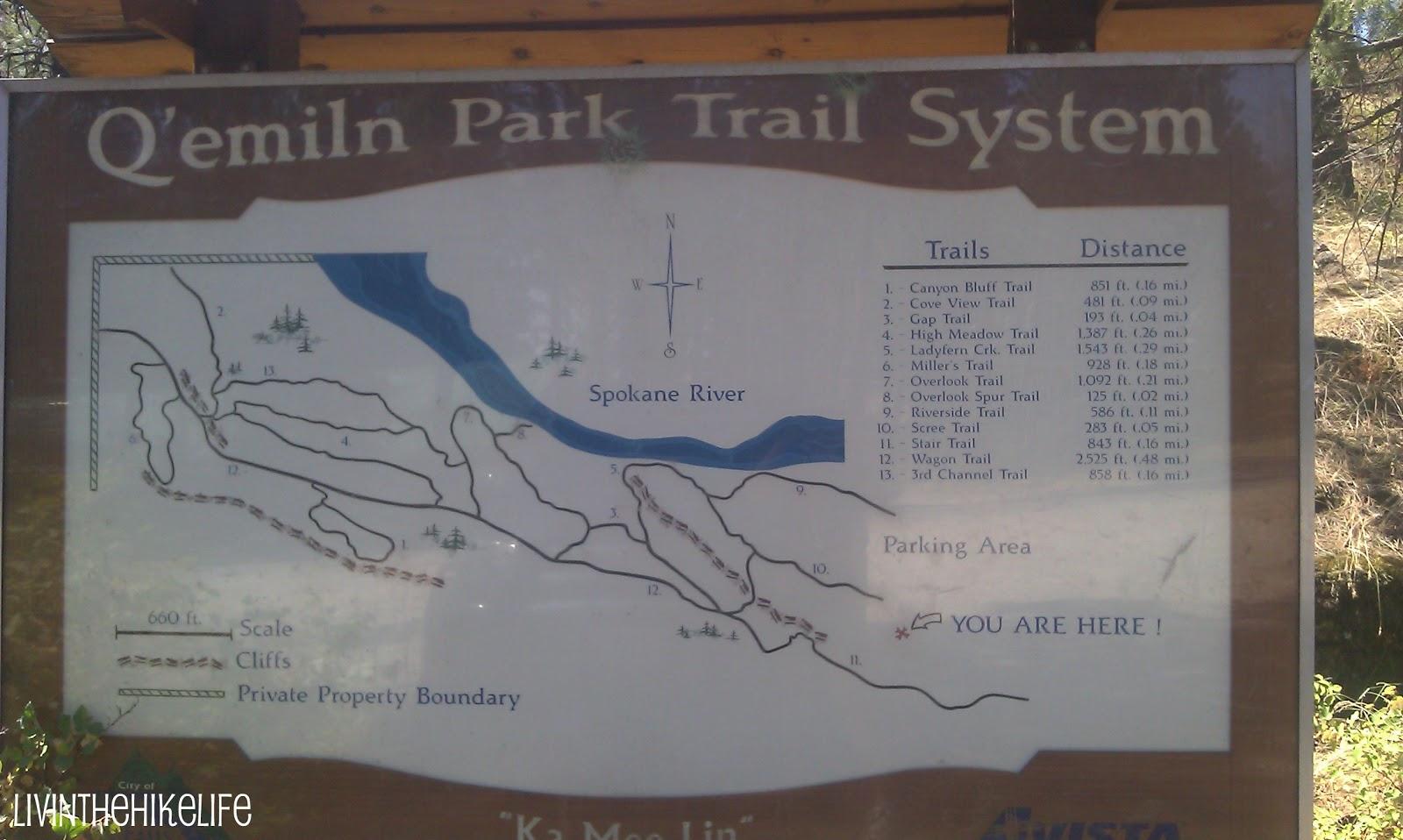 Livin the Hike Life: Q'emiln Park Post Falls Idaho on